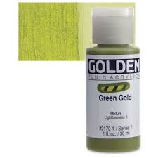 Fluid Acrylic Green Gold