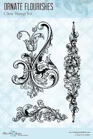Ornate Flourishes Cling Stamp