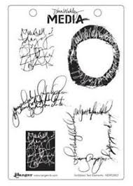 Dina Wakley Media Stamps Scribble Text Elements