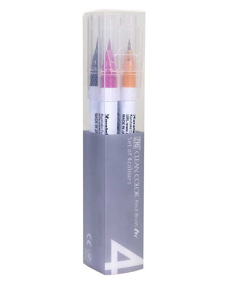Zig Clean Color Real Brush 4 Colors Set - DEEP