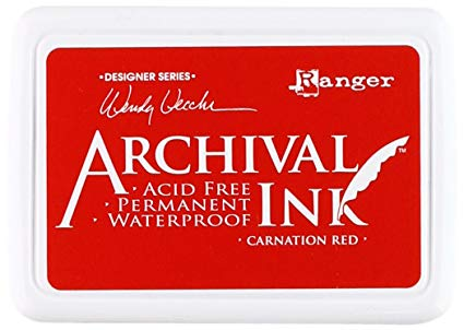 Archival Jumbo Ink Pad CARNATION RED Wendy Vecchi