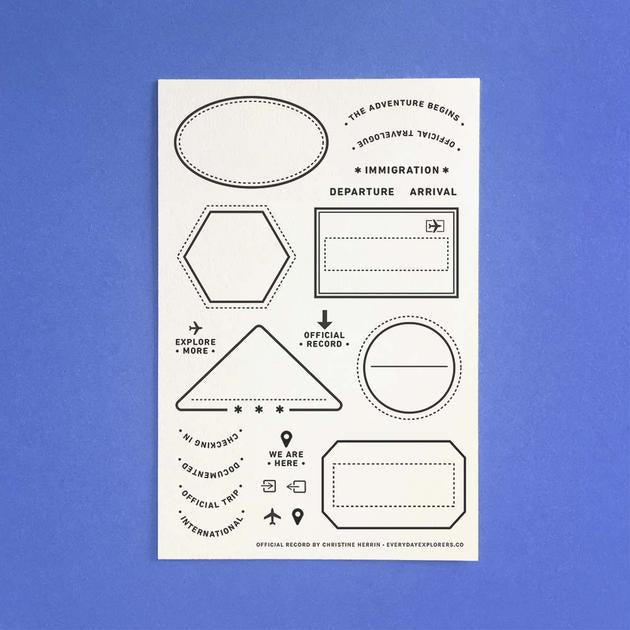 Everyday Explorers Co Official Record - 4x6 Clear Stamp Set