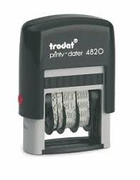 Trodat Self Inking Line Daters-black ink