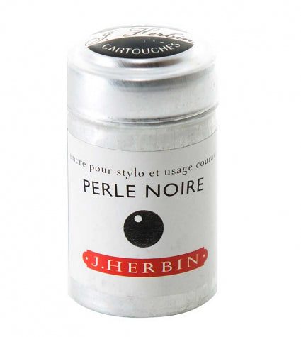 Herbin 6 Ink Cartridge Tin Perle Noire