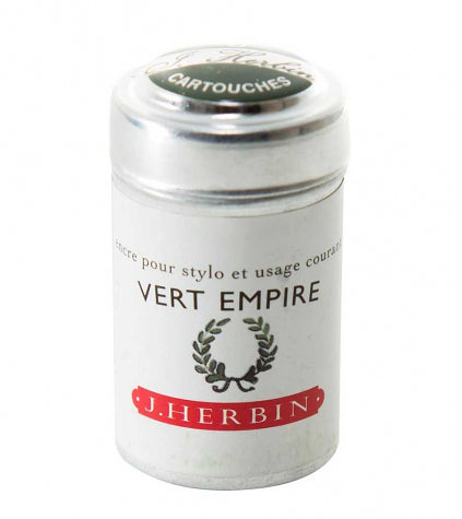 Herbin 6 Ink Cartridge Tin Vert Empire