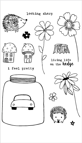 Hedgehog Life Stamp Set