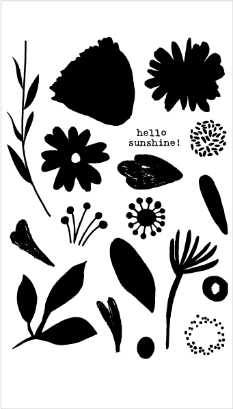 Brush Petals 2 Stamp Set