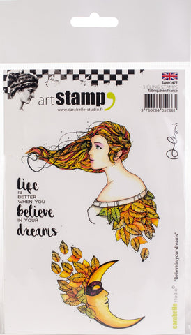 Carabelle - Believe In Your Dreams Cling Stamp