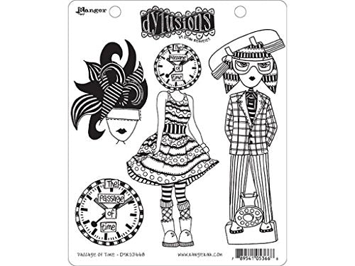 DYLUSIONS CLING STAMPS- PASSAGE OF TIME