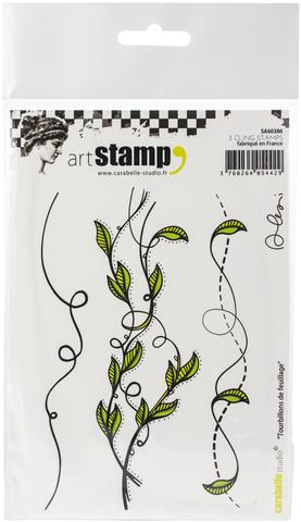 Carabelle - Foliage Borders Cling Stamp Set