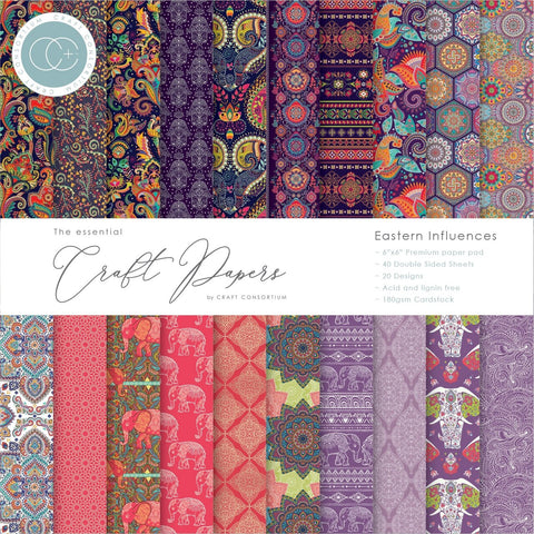 Craft Consortium Eastern Influences 6x6 Paper Pad