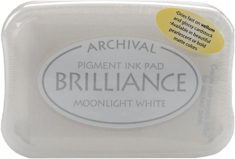 Brilliance Pigment Ink Pad - Moonlight White