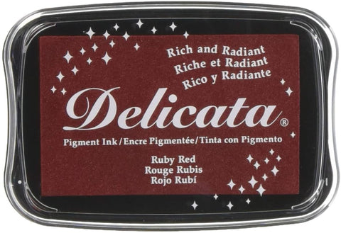Delicata Pigment Ink Pad - Ruby Red
