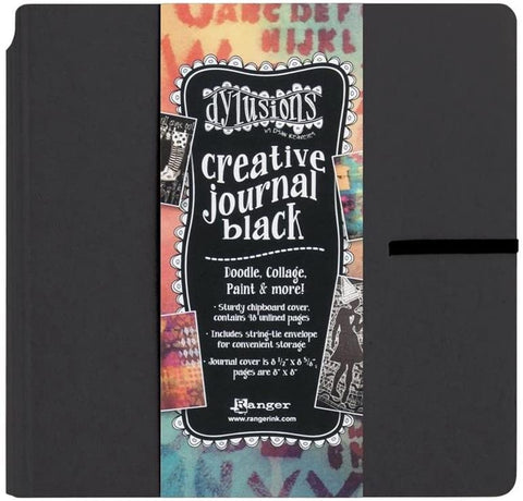 Dylusions Square Creative Journal BLACK