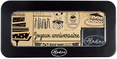 Aladine Birthday Stamp Set