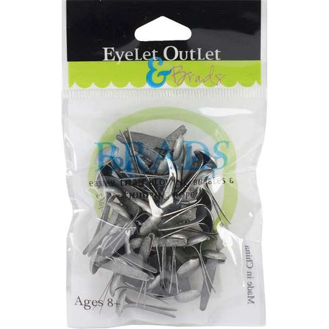 Eyelet Outlet 8mm Brushed Silver Brads