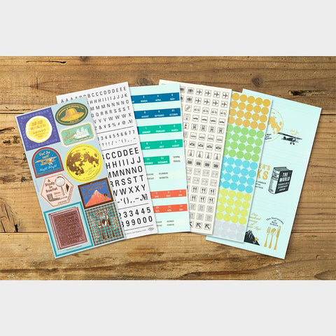 Traveler's Company Customized Sticker Set - Diary 2021