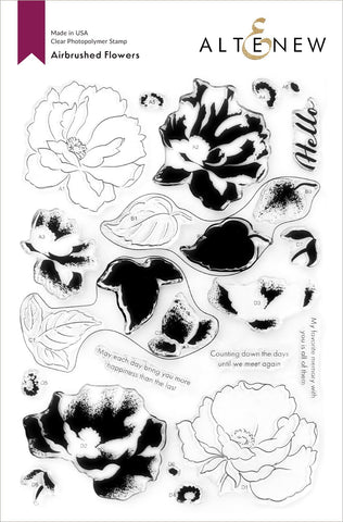 Altenew Clear Stamps - Airbrushed Flowers Stamp Set