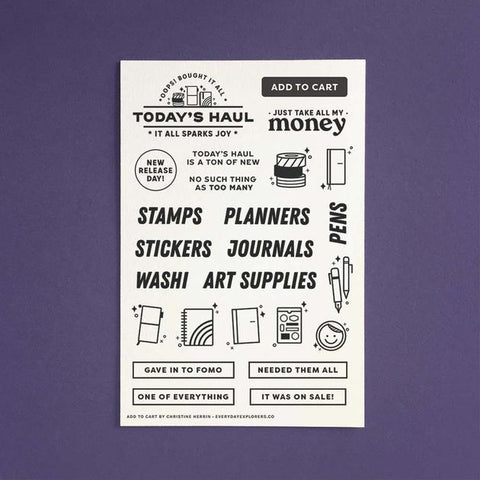 Everyday Explorers Co Add to Cart - 4x6 Clear Stamp Set