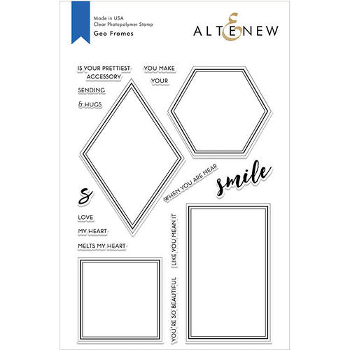Altenew GEO Frames Stamp Set