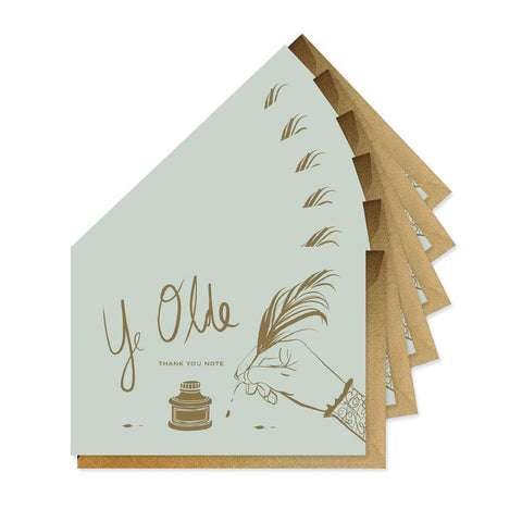 Good Juju Ink Cards & Envelopes - Ye Olde Thank You Boxed Set of 6