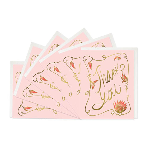 Good Juju Ink Cards & Envelopes - Nouveau Thank You Boxed Set of 6