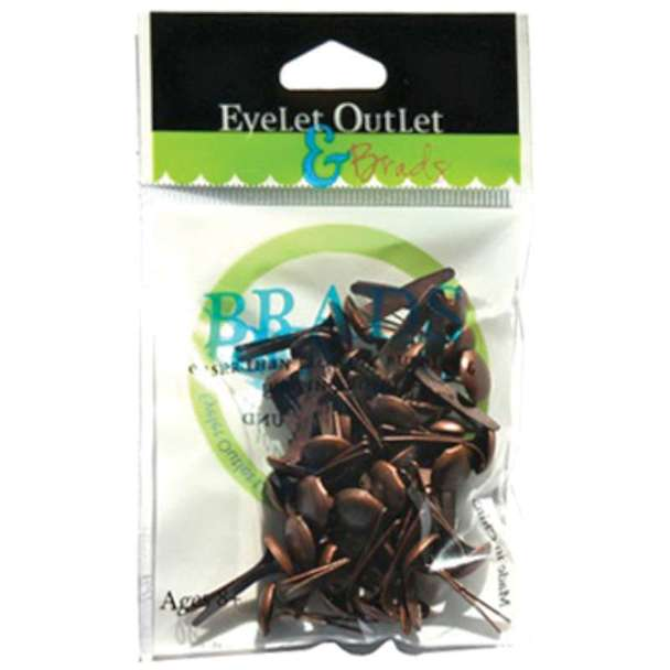 Eyelet Outlet 8mm Brushed Copper Brads