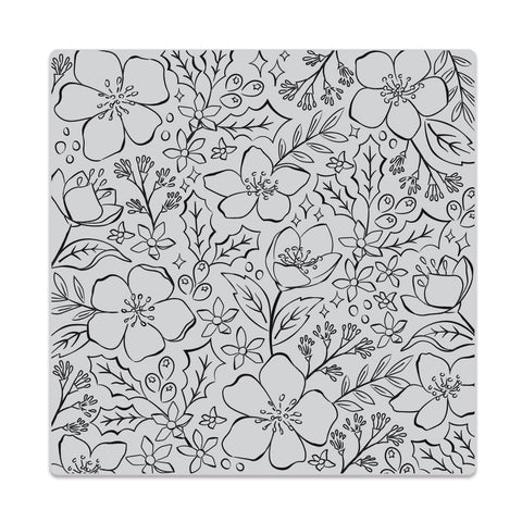 Hero Arts Bold Prints Cling Stamp - Christmas Rose