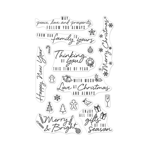 Holiday Messages and Icons Cling Stamps