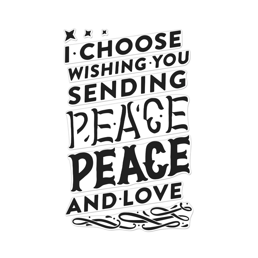 Color Layering Peace Cling Stamps