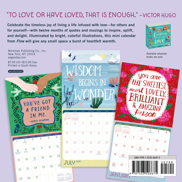 Everything Grows With Love 2020 Mini Calendar