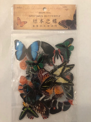 Acetate Specimen Butterfly Stickers