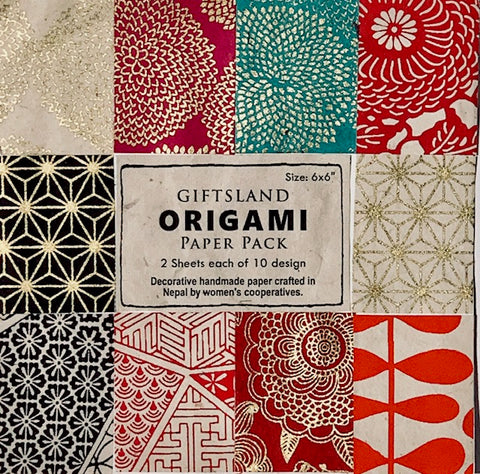 Giftsland Origami Paper Pack - Silkscreen