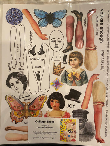 Linda Edkins Wyatt Collage Sheet - #001 Doll Parts I