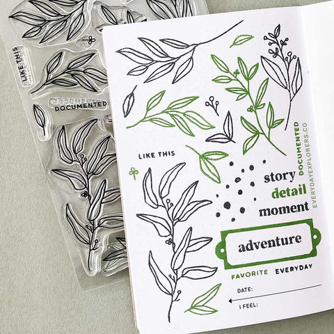 Everyday Explorers Co. Everyday Greenery - 4x6 Clear Stamp Set