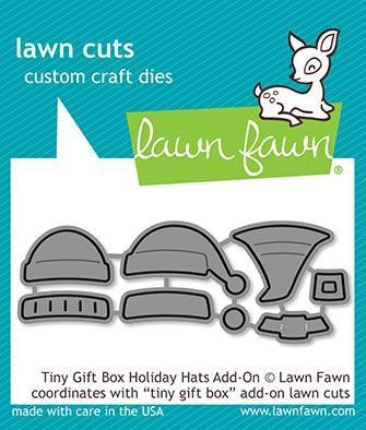 Lawn Fawn Tiny Gift Box Holiday Hats Add-On Lawn Cuts
