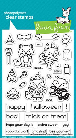 Lawn Fawn Clear Stamps - Fox Costumes Before 'n Afters