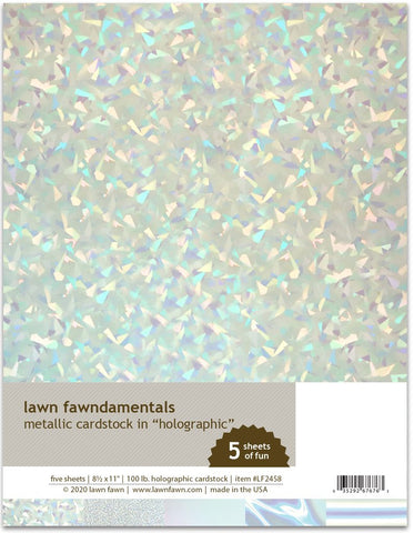 Lawn Fawn Cardstock - Metallic Holographic 8.5 x 11