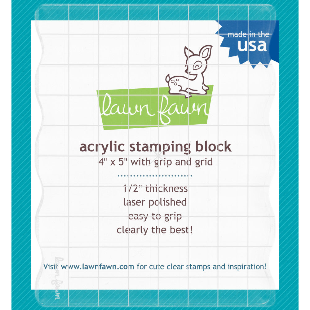Lawn Fawn Acrylic Blocks 4x5 with Grips & Guidelines