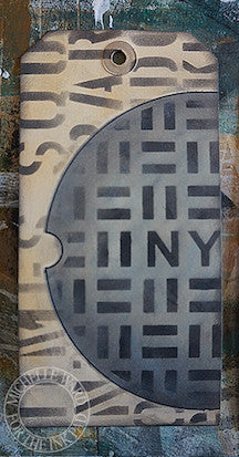 NYC Manhole Cover Stencil & Masks - The Ink Pad - 3