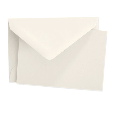 Crown Mill Vellum Cards & Envelopes - 2.5 x 3.75 Cream