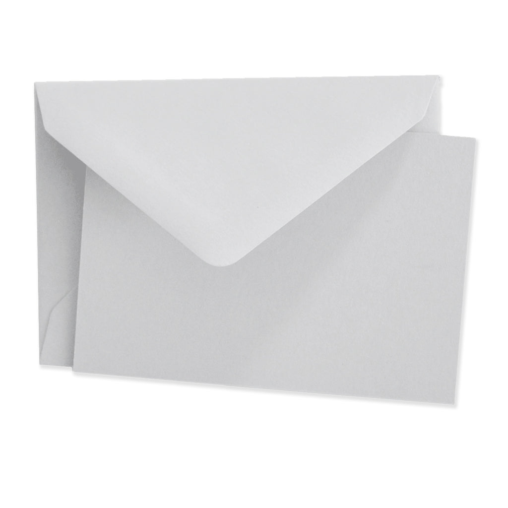 Crown Mill Vellum Cards & Envelopes - 2.5 x 3.75 Dove Grey