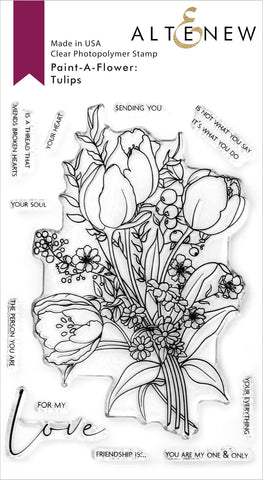 Altenew Clear Stamps - Paint-A-Flower: Tulips Outline Stamp Set