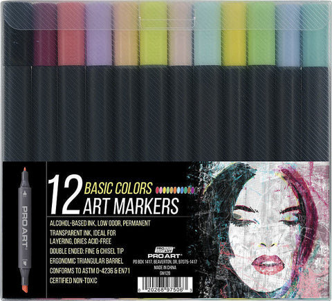 ProArt 12 Basic Colors Artist Markers