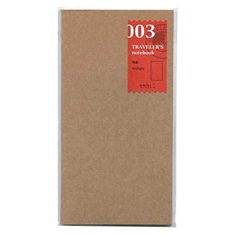 Traveler's Notebook Regular Size Refill Blank