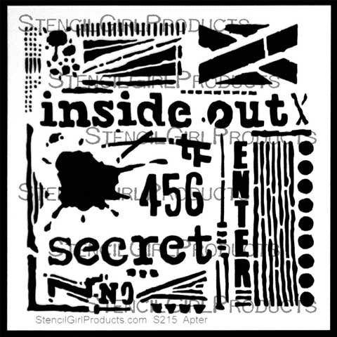 Stencil Girl Inside Out Stencil 6x6