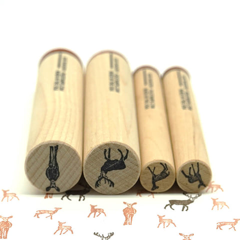 Rubber Stamp Tapestry Deer Family Stamp Set