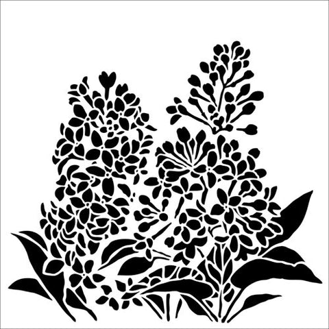 The Crafter's Workshop Lilacs Stencil 6x6