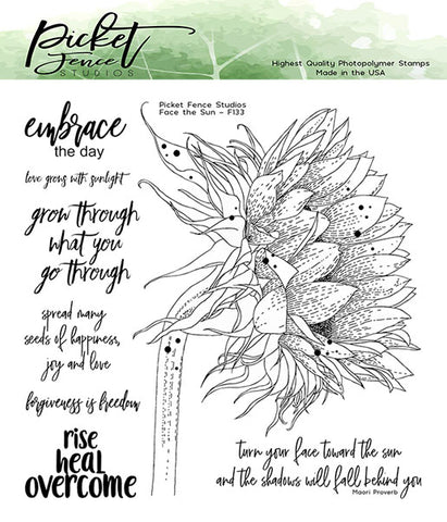 Picket Fence Studios Clear Stamps - Face the Sun