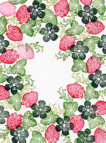 Rubber Stamp Tapestry Strawberry Delight